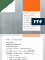 """Presentación oficial del informe sobre el """"Perfil de la economía creativa en Puerto Rico""""."""
