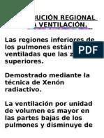 DISTRIBUCIÓN REGIONAL DE LA VENTILACIÓN