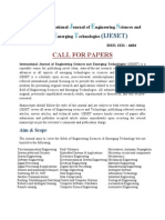 Call for Papers IJESET 2013:August Issue
