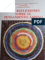Bouysse-Cassagne Et Al 1987_Tres Reflexiones Sobre El Pensamiento Andino