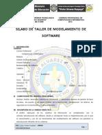 Silabo Modelamiento de Software 2013