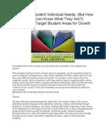 Addressing Student Individual Needs
