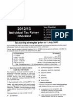 2013 Year End Checklist - Individual