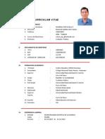 Curriculum Vitae Edson Huamali 2012