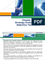 strategy and selection techniues