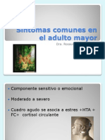 Síntomas comunes en el adulto mayor