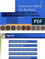 A Review of Sri Lanka's Monetary Policy and