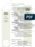 Curriculum Vitae Modelo3c Verde