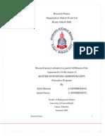 Haleeb Milk Reseasrch Project Report