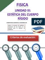 UNIDAD III ESTÁTICA DEL CUERPO RÍGIDO