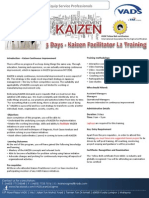 Kaizen Facilitator Level 2 Training Brochure V1 18062013