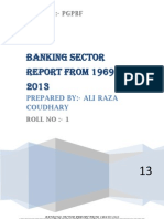 banking sector report from 1969 to 2012