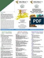 Oiltrac Level 1,2A,3 Courses Flyer
