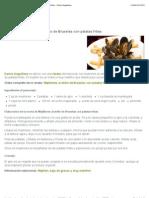 Receta de Mejillones al estilo de Bruselas con patatas fritas - Karlos Arguiñano