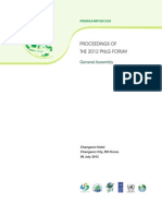 Proceedings of the 2012 PNLG Forum