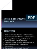 Water and Electrolyte Imbalance
