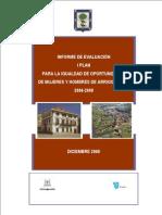 Informe de Evaluacion Del Plan Vasco