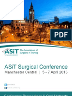 ASiT Conference Abstract Book, Manchester 2013