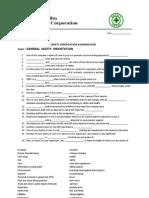 Exam on GS Orientation