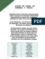 111 LIBRO SANTERIA Diccionario Completo Yerbas y Palos