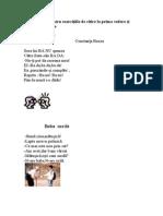 0 Texte Pentru Exercitiile de Citire La Prima Vedere Si Pentru Memorare