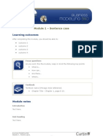 Module 1 – Sentence Case Learning Outcomes After Completing