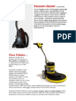 Vacuum Cleaner, Floor polisher.docx