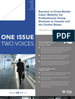 Barriers to Cross-Border Labor Mobility