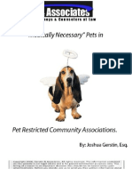 Medically Necessary Pets in Florida Condo or Homeowner Associations