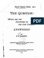 B F Barrett WHAT ARE THE DOCTRINES OF THE NEW CHURCH 1883 The Swedenborg Publishing Association Minneapolis 1912