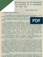 Investigacion Caracterologica de Los Estudiantes Del Departamento de Filosofia de La Universidad de Costa Rica (1)