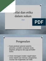 Nilai Dan Etika Dalam Sukan Pj Sem 5