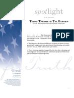 Spotlight 441 Three Truths of Tax Reform