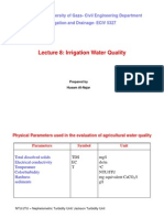 L8 Irrigation Water Quality