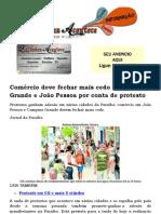 Comércio deve fechar mais cedo em Campina Grande e João Pessoa por conta de protesto.docx