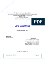 LOS VALORES - ÉTICA