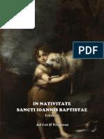 I y II VÍSPERAS DE LA NATIVIDAD DE SAN JUAN BAUTISTA. Forma extraordinaria del Rito Romano.