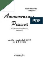Revista Administrarea Public Aprilie-septembrie 2010 Nr. 2-3-66-67