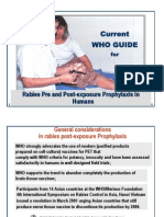 WHO Guide For Rabies Treatment