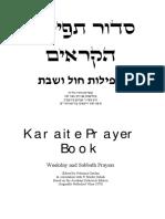 Bible - Siddur - Bilingual Karaite Prayer Book - English Hebrew - Torah Israel Jewish