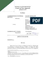 CIR vs Laurence Lee V. Luang  CTA EB Case No.878