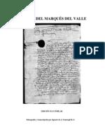 Título del Marqués del Valle, faccimil y transcrpción