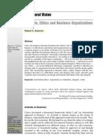 Robert Solomon Aristotle Ethics and Business Organisations