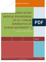 Ch 10, Bio Mechanics in Bio Medical Engineering