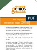 MINIGENIOS DE LOS NÚMEROS