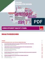 Gerechtigkeit macht Stark - Regierungsprogramm der HessenSPD