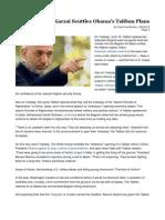 Karzai Scuttles Obama's Taliban Plans