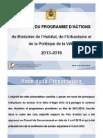 PRIORITES DU PROGRAMME D'ACTIONS 2013-2016