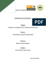 PLC y Sistemas Automaticos, Investigacion. CASTRO SILVAS