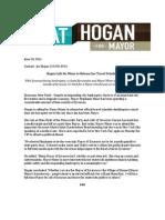 Candidate Pat Hogan Press Release